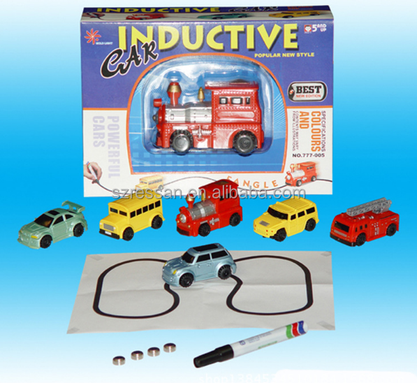 Magic Pen Inductive Tank Truck Car Draw Toys with high quality