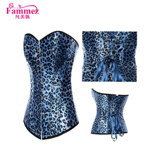 2017 newest leopard print 2759 steel boned corset slimming corset for young girl
