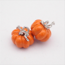 Halloween metal alloy wholesales enamel pumpkin charms pendants for necklace bracelet Diy making