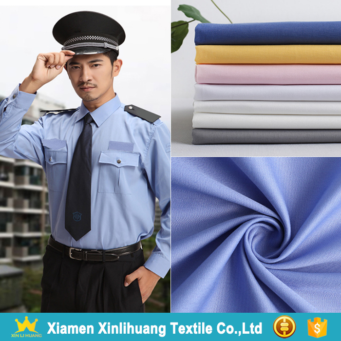 High Quality Police Uniform Fabric 65% Polyester 35% Cotton Shirting Fabric