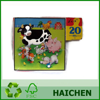 Customized Paper for kids 3d Funny Bamboo Children Puzzle