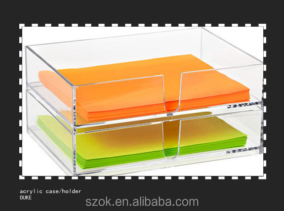 new design 2 tie clear acrylic document holder wholesale