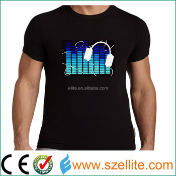 China wholesale factory price sound activated lequalizer t shirt