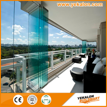 2016 Yekalon New Design Aesthetic Broad View Glass Partition or Glass Folding Door