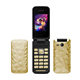 Fast selling 2.4inch SC6531DA Gsm Quad Band Dual SIM Card Unlocked FM Super Nice Design Flip Mobile Phone S3
