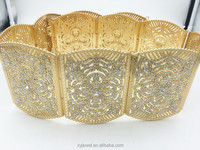 Gold metal belt the latest fashion factory outlet large rhinestone wedding belt moroccan