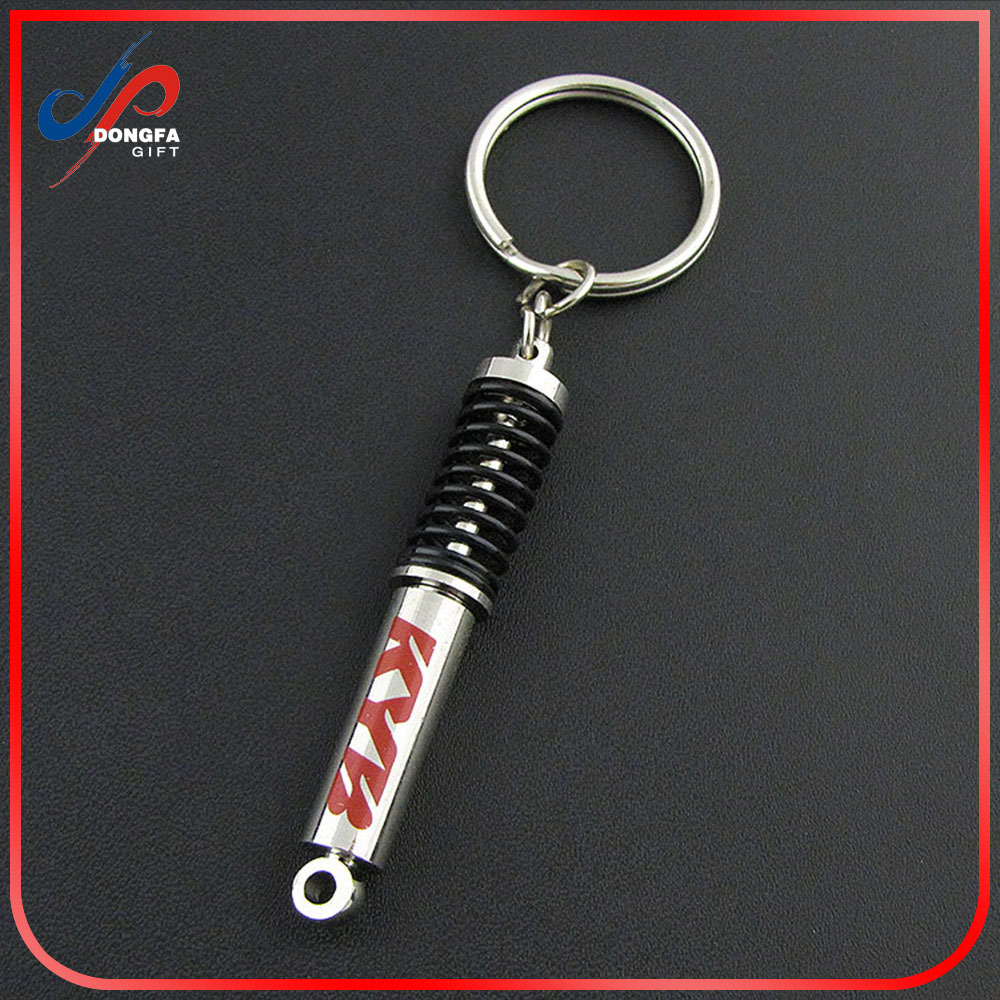 Hot Sale Customized Automobile Car Die Cast Metal Piston Shock Absorber Keychain