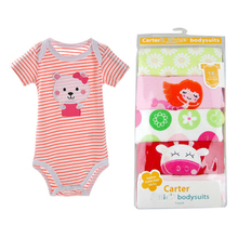 Wholesale 5 pack carter short bodysuit adorable baby clothes, rompers baby girl and boy