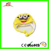 China Cheap Custom Plush Minions Toys Dave Hat With Cover Ear