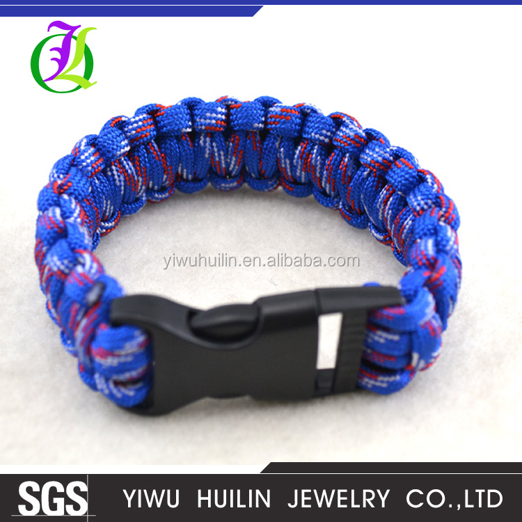 B111 Wholesale latest of survival umbrella rope can be custom color Outdoor emergency escape survival bracelet