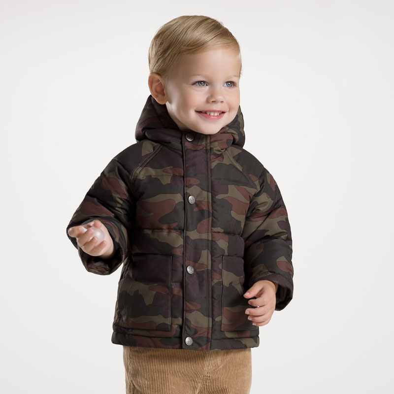 DB2726 dave bella 2015 autumn winter infant coat baby boy down jacket padded jacket outwear boys down coat down jacket