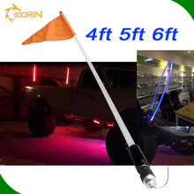 2016 new products 4ft 5ft 6ft parts decorative accessories car led flags light pole flag top mount light