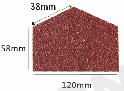 Metal Roof Wanael W10 Pentagon-Type Seal Stone Coated Steel Roofing Tile, Roof Tile Ridge Cap