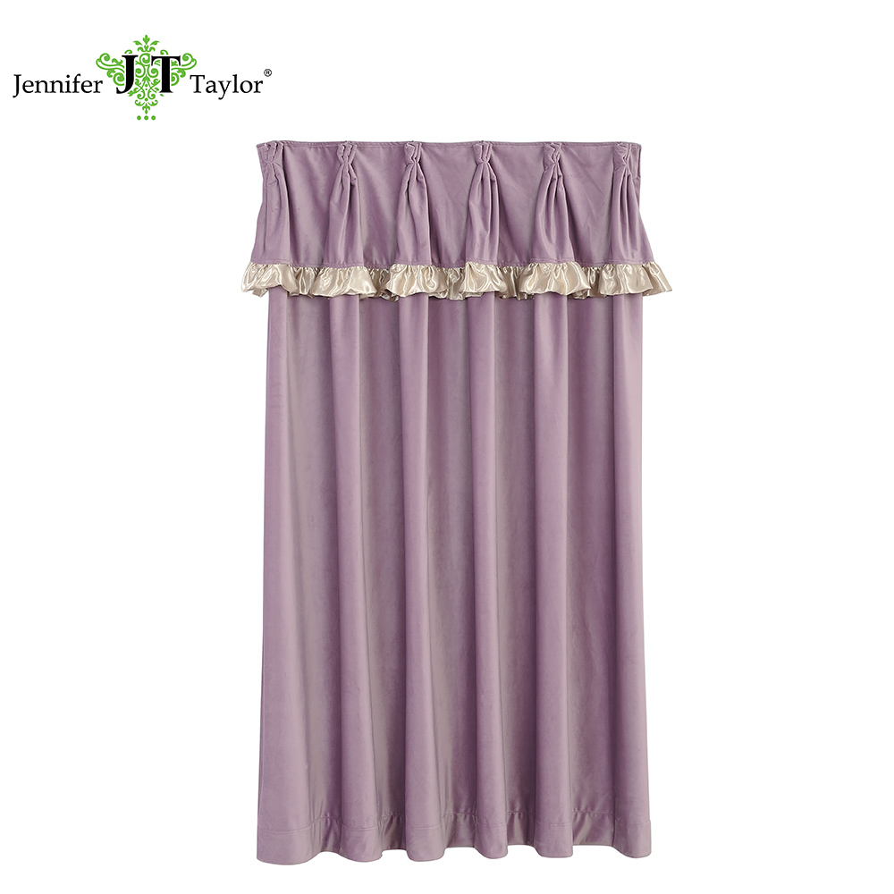 Luxury home textile window curtain pink high quality fabric curtain