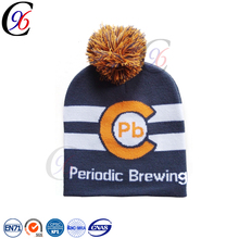 Chengxing acrylic knit fabric custom beanie winter crochet cheap jacquard pattern children winter hat