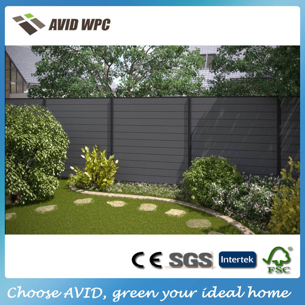 Cheap price and high quality wpc wood fence/wpc composite fence panel for sale