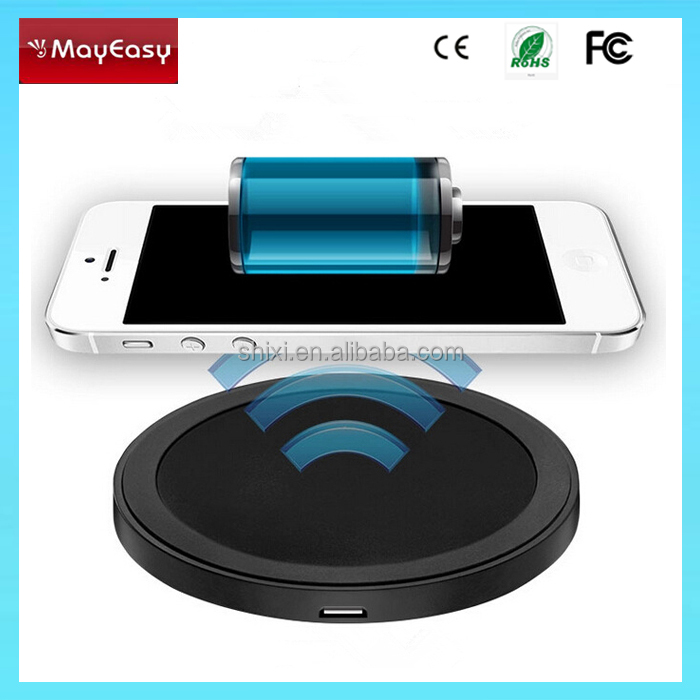 Rodada carregador Qi sem fio Carregador for all smartphone,round mini wireless charger,wireless charger pad