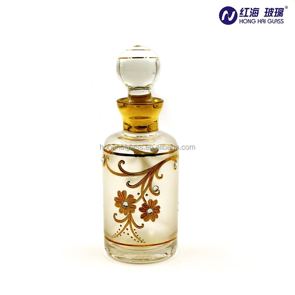 Lead Free Arabic Style Empty Glass Perfume Bottle 200ml