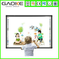 Factory Multi touch OEM ODM SKD 69 to 120 inch size smart interactive whiteboard educational training equipment