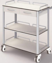 Excellent quality stylish hospital metal file trolley