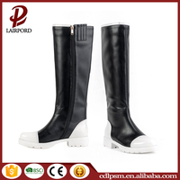 Wholesale Leather platform chunky heel knee high italian woman sexy winter boots