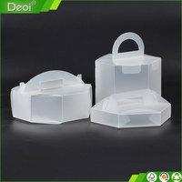 Good quality hot selling PP package box/custom cake PP box plastic packing/PP clear box