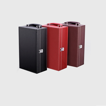 2018 new style wine box set bounded leather handle portable wine case