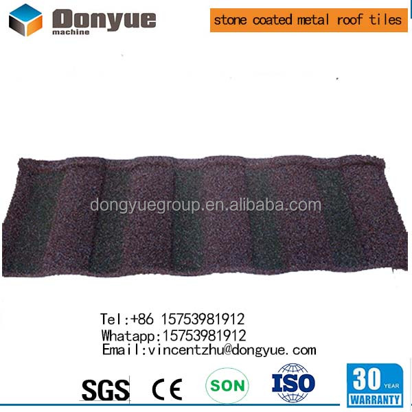 Building material /Strong sand coated metal roofing tiles/ Flat roof tile in china