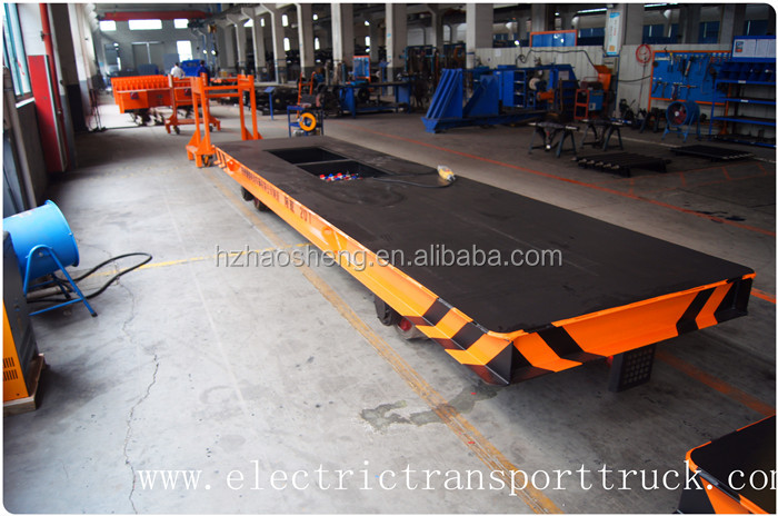 Cast steel wheel cable drum powered heavy load handling carriage for transfer cart on rails
