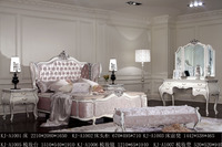 2016 Luxury bedroom fancy furniture, real leather king size bed