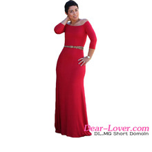 Sexy Red Quarter Sleeves Off Shoulder Casual Mother of The Bride Dresses