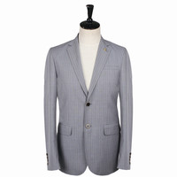 high quality business anti-wrinkle wool/polyester stripe Royal blazer mens blazer casual suit for men