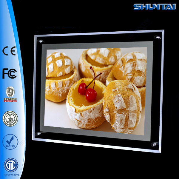 Guangzhou Factory LED Illuminated Slim Crystal light box Menu