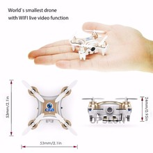 Quadcopter Drone Mini One Key Return RC Helicopter 2.4G Remote Control