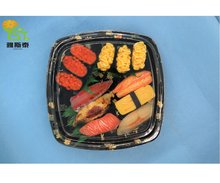 custom color square take away disposable food party tray sushi tray party container