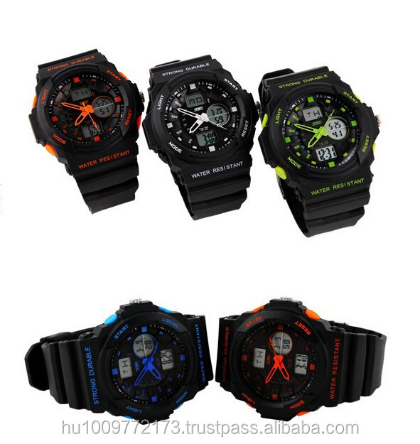 Multi Function Military S-Shock Sports Watch LED Analog Digital Waterproof Men's Wristwatch