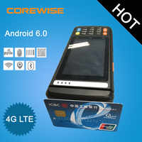 4G LTE Android 6.0 mobile pos terminal gprs magnetic strip card machines