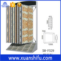 book style trade show display stand for bathroom tile stone XM-F529