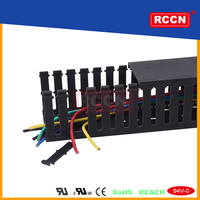 China Manufacturer Pvc Trunking Wiring Systems china cable duct black