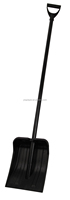 Factory Whosale Black Heated Plastic Snow Shovel With Handle