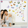 Reflective Magnetic Butterfly Design Eco-Friendly Waterproof Kids Room Art Decor Diy Wall Sticker