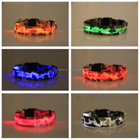 Led flashing collar colorful glowing dog collars led pet dog and cat necklace