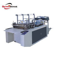 cold cutting bottom sealing t-shirt bag making machine two line single layer automatic plastic bag machine with auto convey