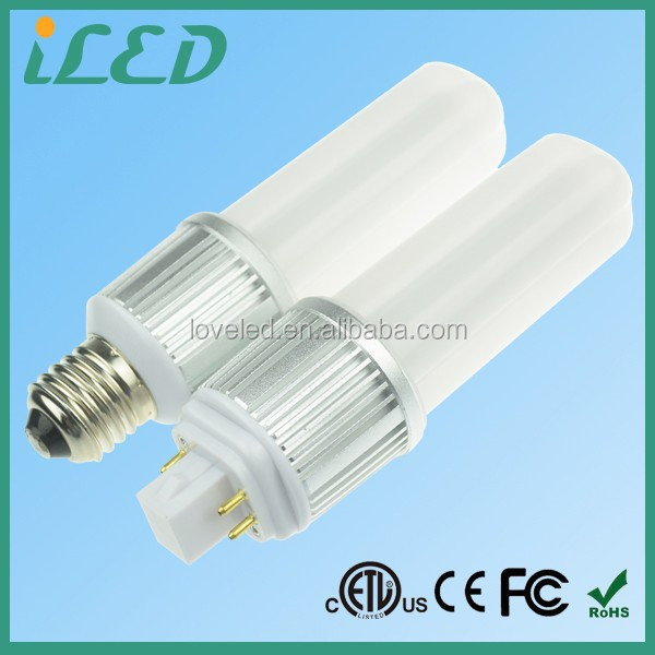 PSE ETL SMD E27 LED Light Bulb Cool White 6400K 360 Degrees 9 Watt 4 pin PL Lamp Gx24Q-3 LED