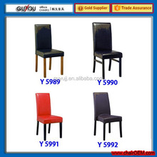 Y 5979 Solid Wood Frame PU Covers Dining Chair/Kitchen Chair/Restaurant Chair