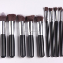 10pcs/set Make up Brush Natural Hair Smudge Brush Professional Brush