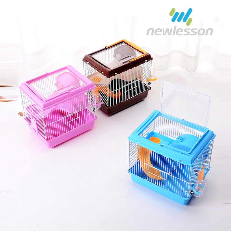 funny running wheel drinking device luxury hamster cage for wholesale