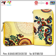 China OEM manufacture zippered clutch bifold ladies purse genuine leather women wallets