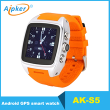 2017 hot selling GPS wifi dual core android smart mobile watch phone S5 with 3.0MP camera
