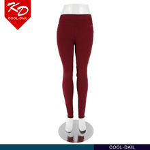 female solid red back welt pockets skinny leg diamond studded good fit casual pants